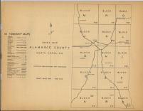 Index Map, Alamance County 1954